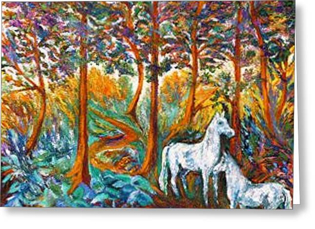 HORSES in the SHADE Greeting Card by Gunter  Hortz