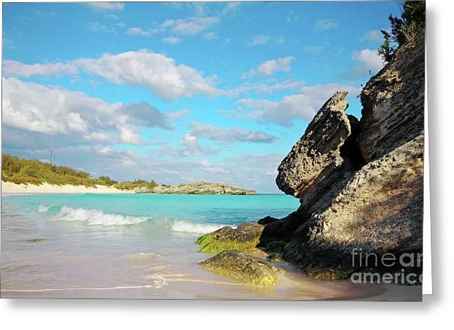 Bermudas Greeting Cards - Horseshoe Bay in Bermuda Greeting Card by Charline Xia