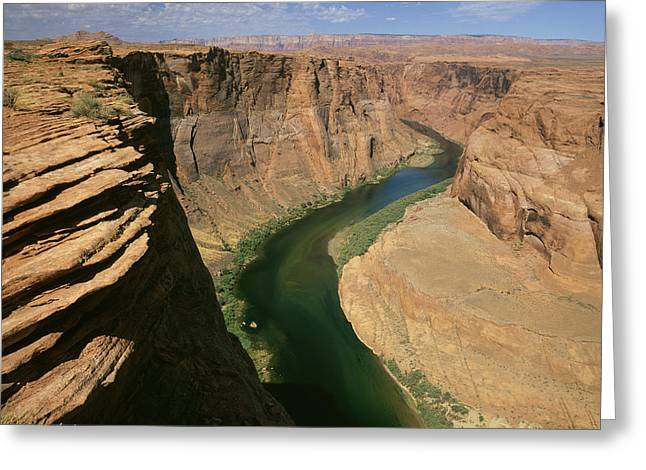 Horseshoe Bend Of Colorado River, Page Greeting Card by Tips Images