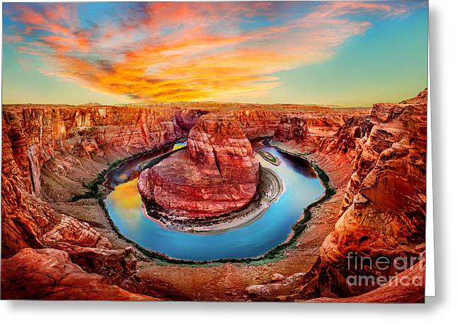 Formations Greeting Cards - Red Planet Greeting Card by Az Jackson