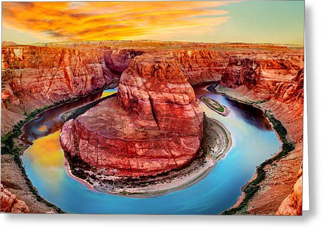 One Photograph Greeting Cards - Red Planet Panorama Greeting Card by Az Jackson