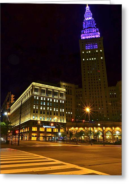 Marvelous View Greeting Cards - Horseshoe Casino Cleveland Greeting Card by Frozen in Time Fine Art Photography