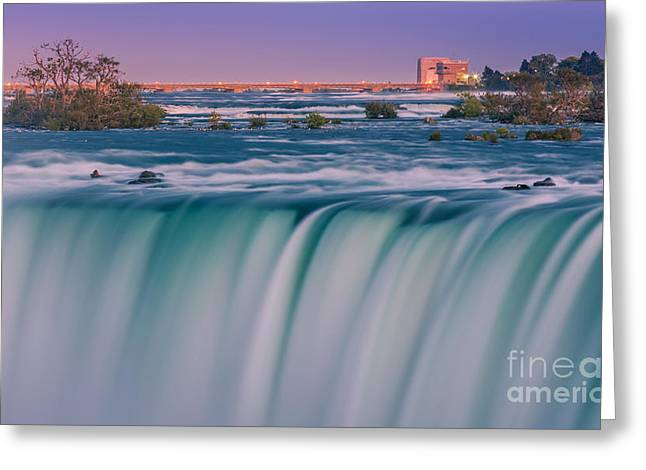 After Sunset Greeting Cards - Horseshoe Falls is a part of the Niagara Falls Greeting Card by Henk Meijer Photography