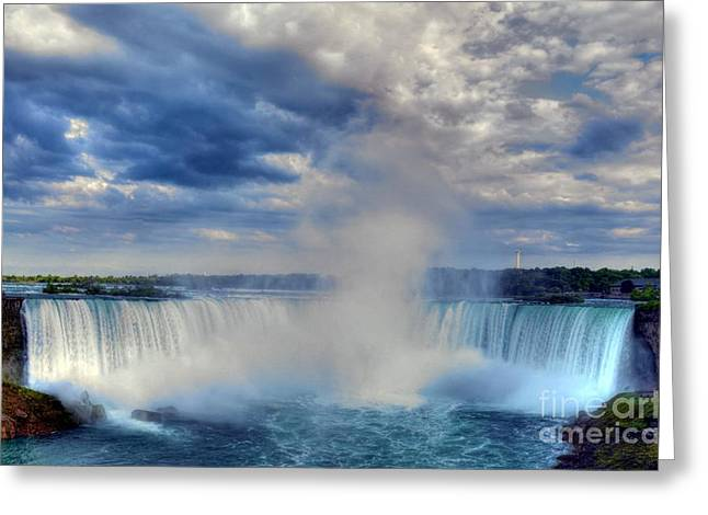 Water Flowing Greeting Cards - Horseshoe Falls Greeting Card by Mel Steinhauer