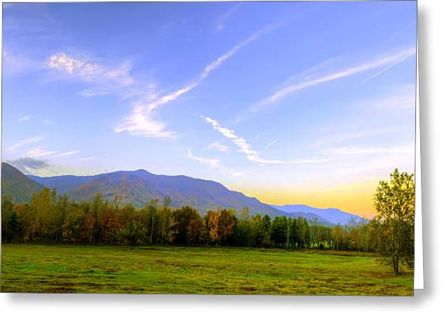Tennessee Farm Greeting Cards - Horseshoe Ridge in Cades Cove at Dawn Greeting Card by Steve Samples