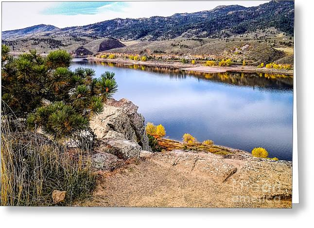 Carter House Greeting Cards - Horsetooth Autumn Greeting Card by Jon Burch Photography