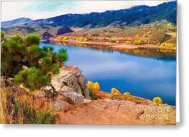 Horsetooth Lake Overlook Greeting Card by Jon Burch Photography