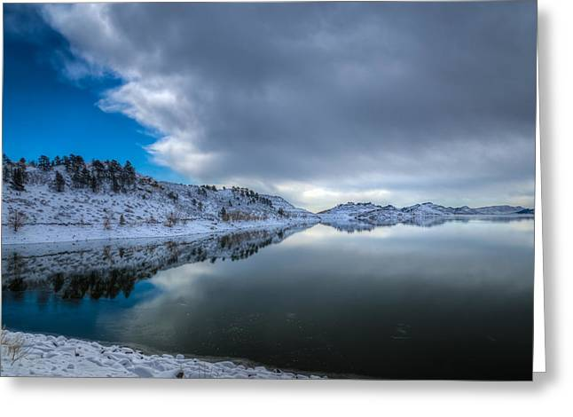 Horsetooth Reservoir Greeting Cards - Horsetooth Reservoir Eastern Bank Greeting Card by Harry Strharsky