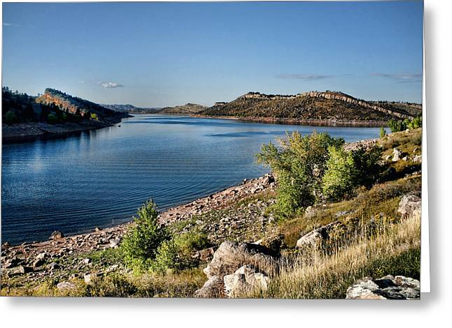 Fort Collins Greeting Cards - Horsetooth Reservoir Greeting Card by Jim Hill