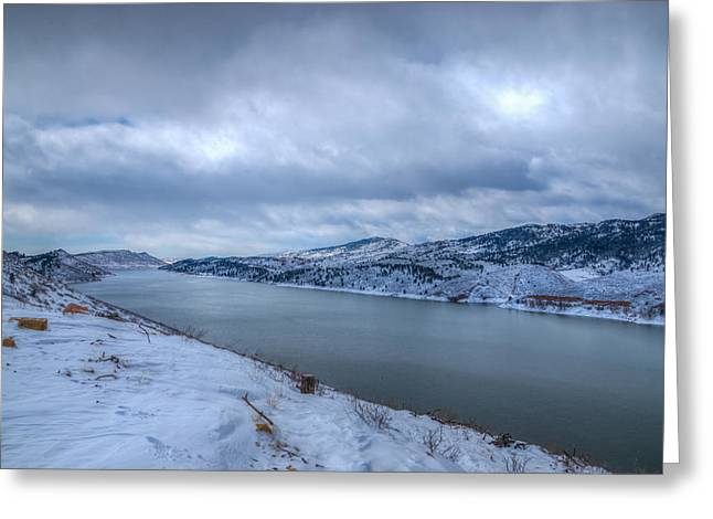 Horsetooth Reservoir Greeting Cards - Horsetooth Reservoir Looking South Greeting Card by Harry Strharsky