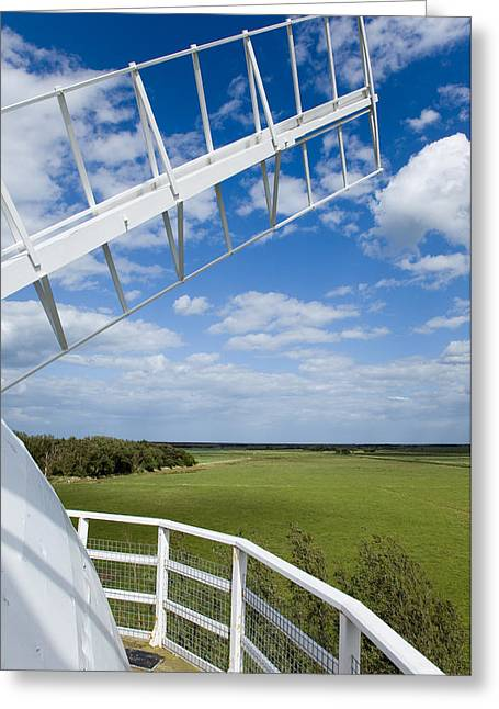 Paul Lilley Greeting Cards - Horsey Wind Pump Greeting Card by Paul Lilley