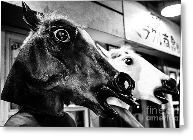 Freaky Greeting Cards - Horsing Greeting Card by Dean Harte