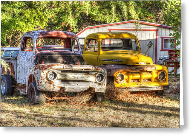 Horton Bros Fords Greeting Card by Newman Artography