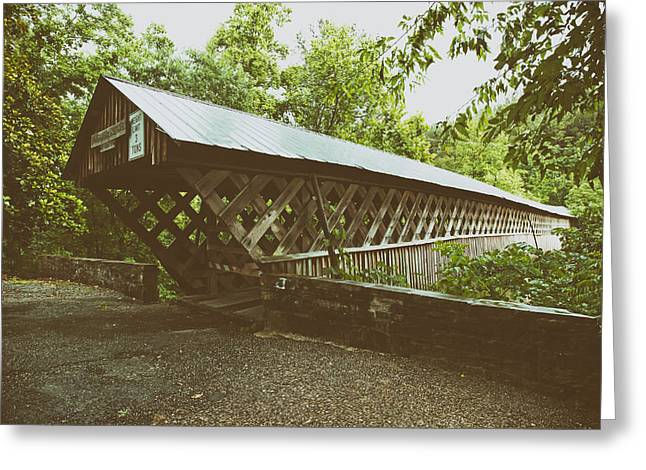 Alabama Greeting Cards - Horton Mill Covered Bridge - Alabama Greeting Card by Mountain Dreams