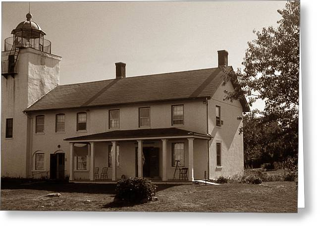 HORTON POINT LIGHTHOUSE Greeting Card by Skip Willits
