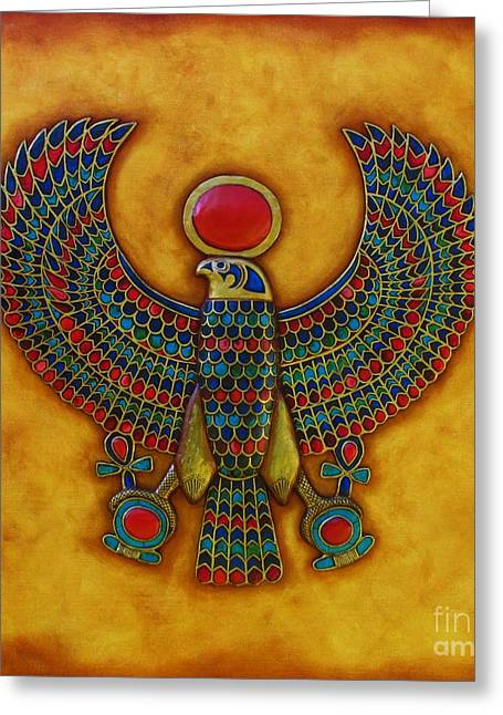 Horus Greeting Cards - Horus Greeting Card by Joseph Sonday