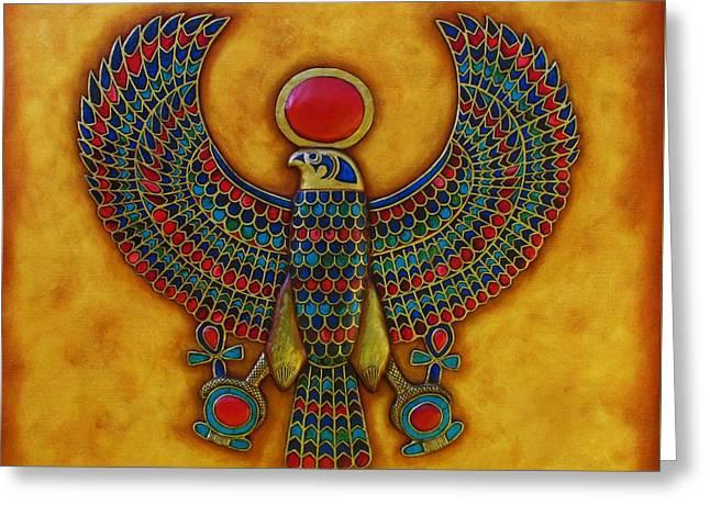 Horus Greeting Card by Joseph Sonday