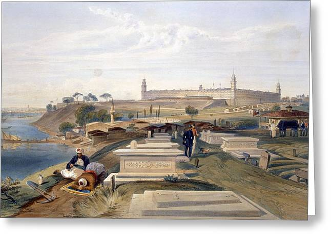 Florence Greeting Cards - Hospital And Cemetery, Scutari, Plate Greeting Card by William