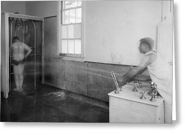 Hospital Hydrotherapy, 1920s Greeting Card by Science Photo Library
