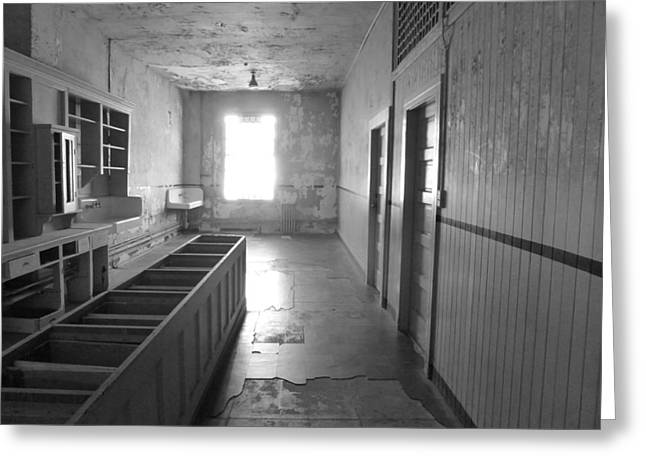 Quality Pyrography Greeting Cards - Hospital Ward - Alcatraz Greeting Card by Fabien White