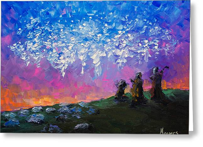 Mike Moyers Greeting Cards - Host of Angels Greeting Card by Mike Moyers