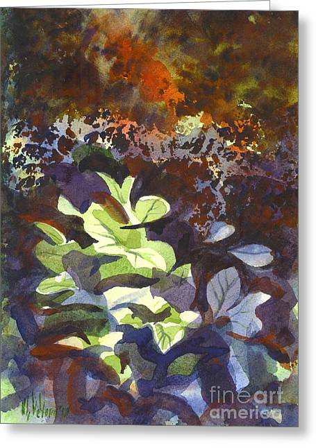 Kip Devore Greeting Cards - Hostas in the Forest Greeting Card by Kip DeVore