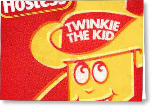 Hostess Greeting Cards - Hostess Twinkie The Kid Greeting Card by Tony Rubino