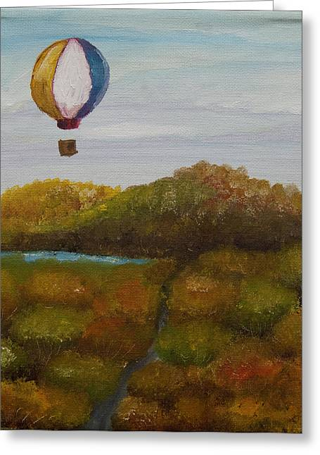 Anthony Cavins Greeting Cards - Hot Air Greeting Card by Anthony Cavins