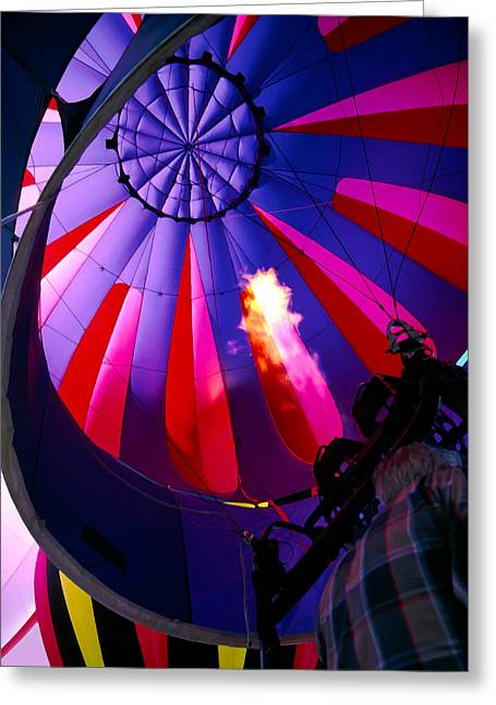 Balloon Fiesta Greeting Cards - Hot Air Balloon 1 Greeting Card by Bill Caldwell -        ABeautifulSky Photography