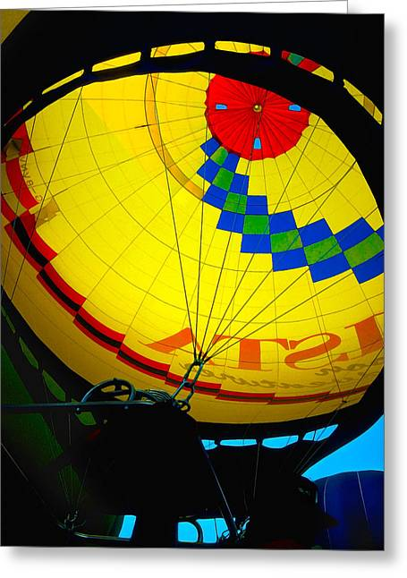 Balloon Fiesta Greeting Cards - Hot Air Balloon 3 Greeting Card by Bill Caldwell -        ABeautifulSky Photography