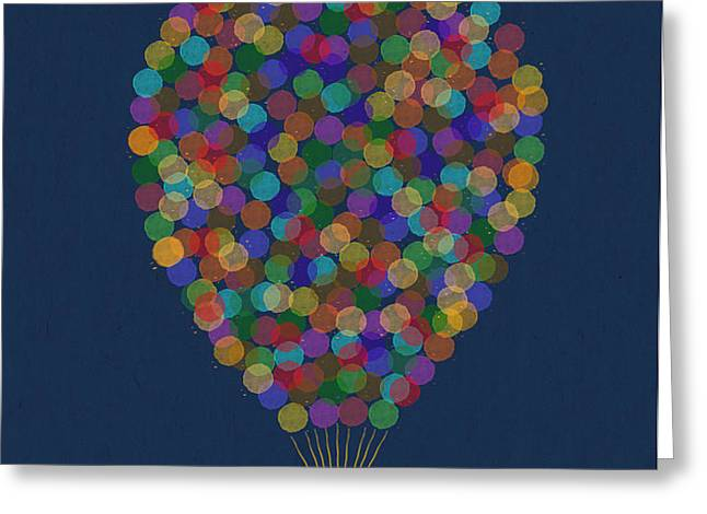 Hot air balloon Greeting Card by Aged Pixel