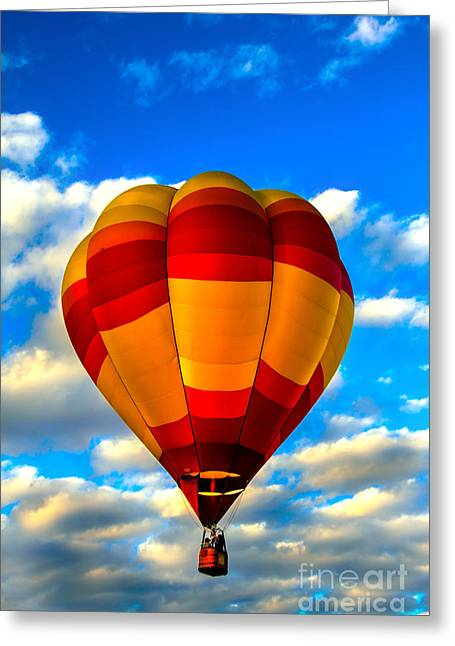 West Wetland Park Greeting Cards - Hot Air Balloon at Colorado River Crossing Greeting Card by Robert Bales