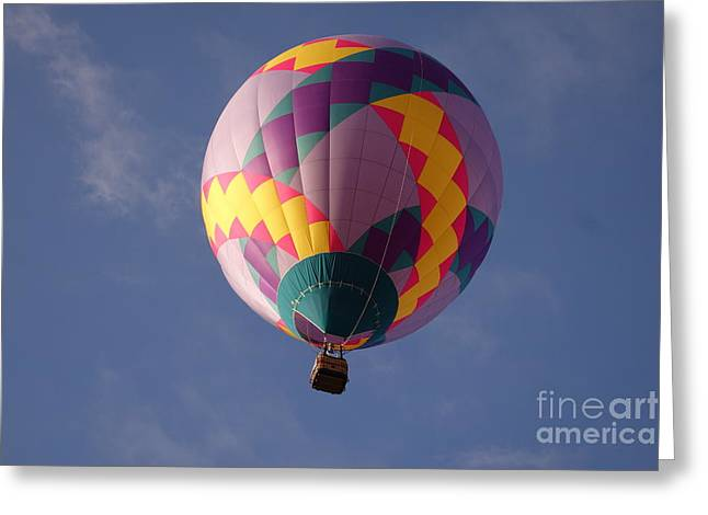 Balloon Pyrography Greeting Cards - Hot air balloon Greeting Card by Cindy Daly