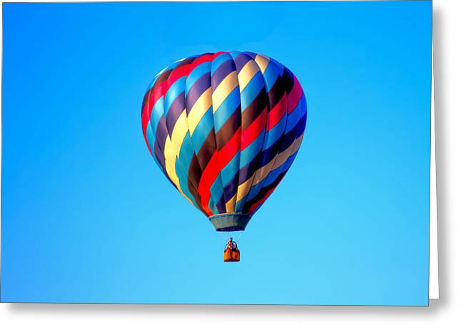 Helium Greeting Cards - Hot Air Balloon Flight Greeting Card by Geraldine Scull