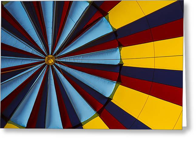 Hot Air Greeting Cards - Hot air balloon graphic Greeting Card by Garry Gay