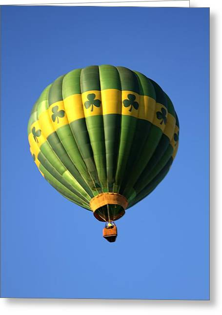 Balloon Vendor Greeting Cards - Hot Air Balloon Launch Greeting Card by Geraldine Scull