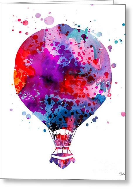 Hot Air Greeting Cards - Hot Air Balloon Greeting Card by Luke and Slavi