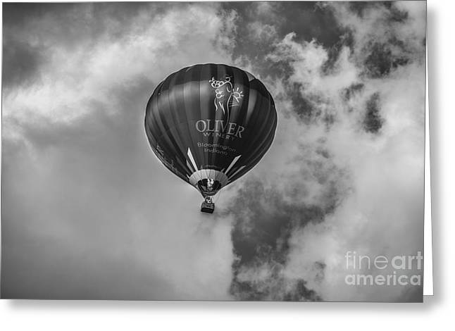 Ascending Risen Greeting Cards - Hot Air Balloon OW 1 Greeting Card by David Haskett