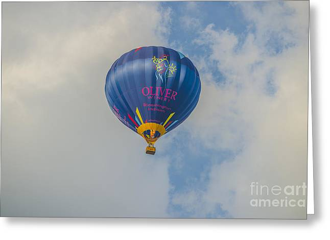 Ascending Risen Greeting Cards - Hot Air Balloon OW 11 Greeting Card by David Haskett