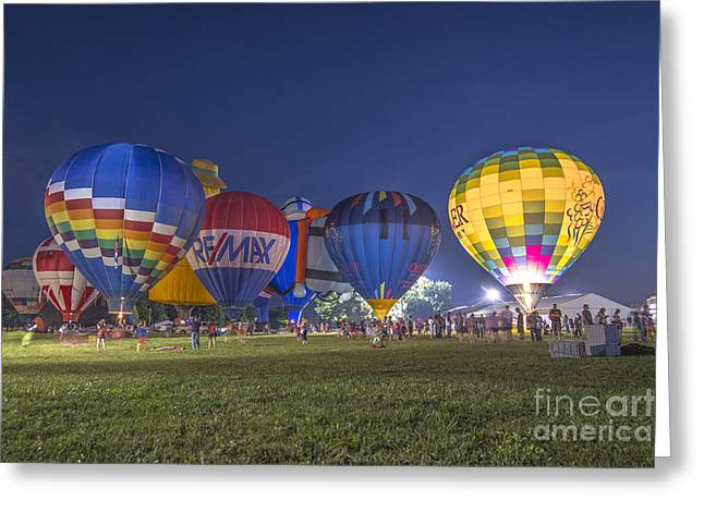 Ascending Risen Greeting Cards - Hot Air Balloon OW 4 Greeting Card by David Haskett