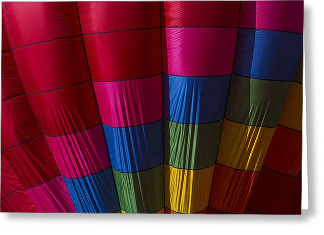 Balloon Greeting Cards - Hot Air Balloon Pattern Greeting Card by Garry Gay