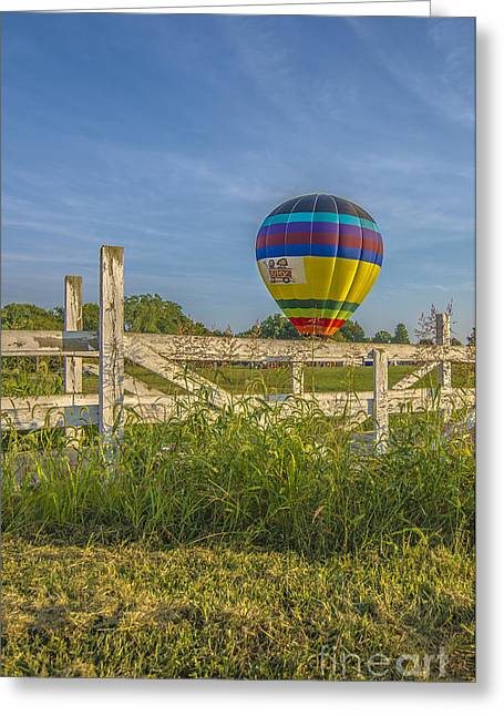 Ascending Risen Greeting Cards - Hot Air Balloon Riley 5 Greeting Card by David Haskett
