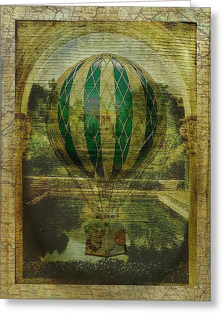Hot Air Balloon Voyage Greeting Card by Sarah Vernon