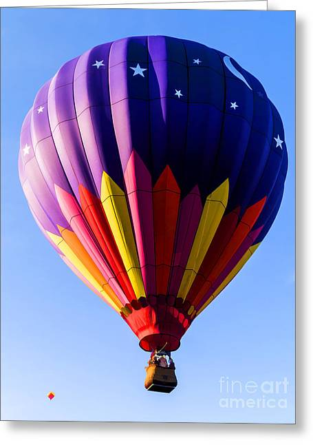 """hot Air Balloon"" Greeting Cards - Hot Air Ballooning in Vermont Greeting Card by Edward Fielding"
