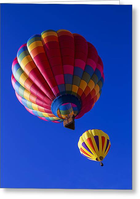 Balloon Greeting Cards - Hot Air Ballooning Together Greeting Card by Garry Gay