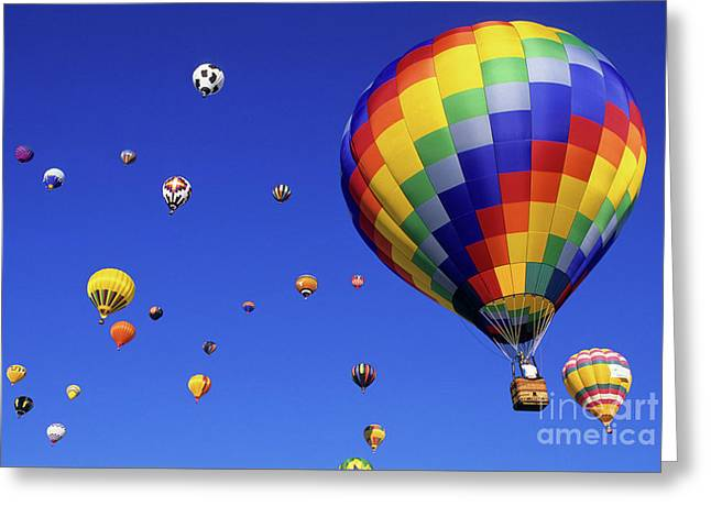 Bob Christopher Greeting Cards - Hot Air Balloons 15 Greeting Card by Bob Christopher