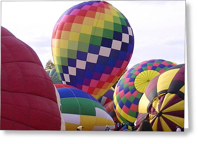 Hot Air Balloons Greeting Card by Lee Hartsell