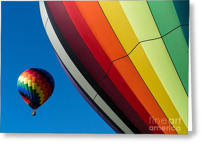 """hot Air Balloon"" Greeting Cards - Hot Air Balloons Quechee Vermont Greeting Card by Edward Fielding"