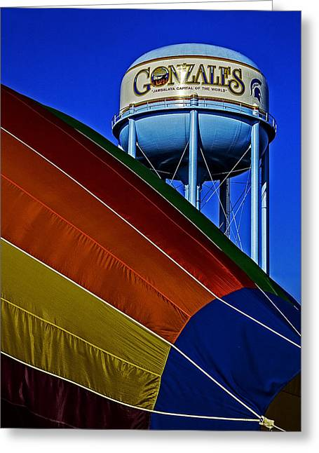 Hot Air Greeting Cards - Hot air in Gonzales Greeting Card by Andy Crawford