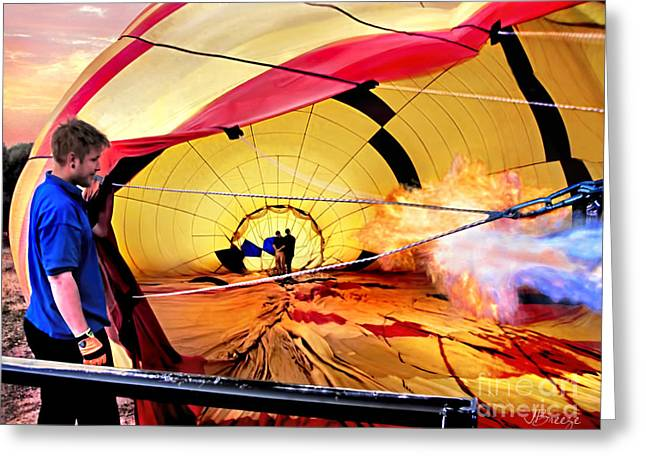 Inflation Greeting Cards - Hot Air in Sedona Greeting Card by Jennie Breeze
